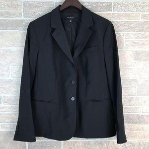 NWOT Talbots Black Wool Blend Button Blazer 16